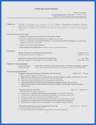 Resume Template Engineering Mechanical Engineering Resume Templates