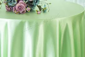 90 round satin table overlay mint green 55534 1pc pk