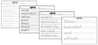 Free Handwriting Worksheets And Handwriting Based Activities