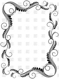 abstract fl black and white frame ornamental frame vector image vector ilration of borders and to zoom