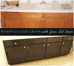 Staining Oak Cabinets Espresso Transform Your Golden Oak Cabinets With Java Gel Stain Stains