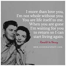 Ronald And Nancy Reagani Love How Much They Loved Each Other