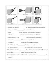Preposition worksheet year 4