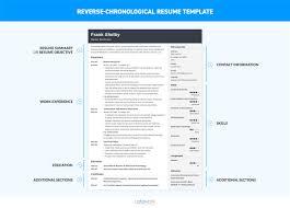 Chronological Resume Template Word Sarahepps Com