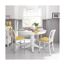 White Extension Dining Table Avalon 45 White Round Extension Dining Table Crate And Barrel