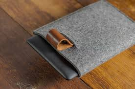 kindle paperwhite felt brown italian leather case sleve