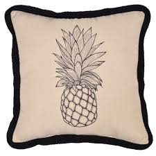 hampton bay cushionguard pineapple square outdoor throw pillow
