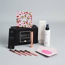 boxycharm has exploded in pority this year and will be sure to delight your trenst makeup loving friend each box includes 4 5 beauty items with a