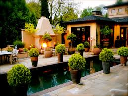 pool patio decorating ideas. Large Rectangular Modern Planters With Pool And Tile Floor Plus Lighting For Patio Decorating Ideas