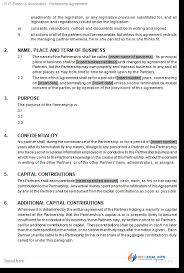 General Partnership Agreement - Deed Of Partnership Contract