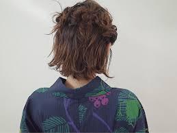 浴衣アレンジ ハーフアップaartiriorboa所属suzukimegumiのヘア