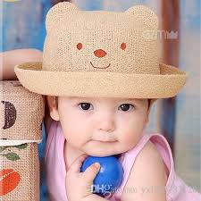cute baby boys s little bear cap children summer cartoon shaped sunhat children photo props kids candy colors fisherman hat by