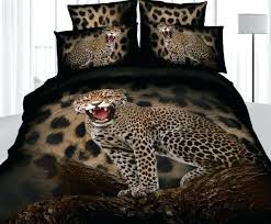 bg leopard print duvet cover set king size