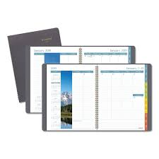 Dayminder Scenic Planner 8 1 4 X 10 7 8 Gray 2019