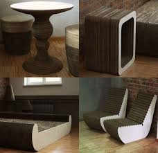 cardboard furniture design. polish designers create cardboard furniture for eco minded client friend design