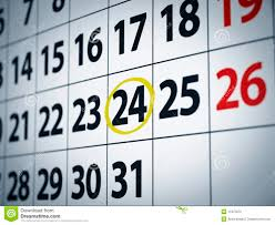 Date On The 24th Stock Photo Image Of Paper Business