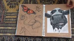 a gcse art sketchbook flip through 2018 2018
