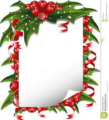 Christmas Backgrounds For Word Documents Free Christmas Background Paper Decorated With Holly Stock Vector