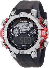 armitron watch armitron men s black resin digital watch 100 meter wr chronograph 40 8251red