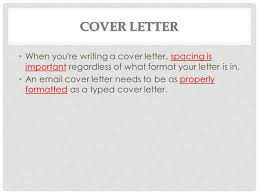 cover letter spacing rules   letter