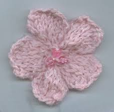 Knitted Flower Pattern Fascinating Head Huggers Flower Pattern 48 Knit Flower