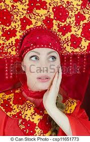 Archivi fotografici - donna, russo, tradizionale, vestiti - can-stock-photo_csp11651773