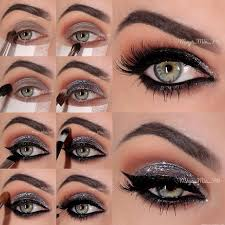 glamour makeup with easy makeup ideas for blue eyes with sparkling silver smokey eye makeup tutorial