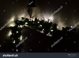 Christmas Bright White Lights Bright White Christmas Lights Dangling Off Stock Photo Edit