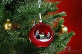 sparkling christmas ornament on a christmas tree
