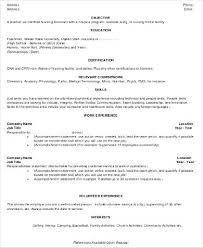 Sample Cna Resume Sample Resume Objective Sample Nursing Assistant