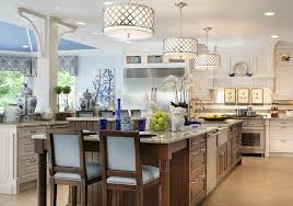 traditional kitchen lighting ideas. Cool Prudential Lighting Vogue New York Traditional Kitchen Decorating Ideas With Blue Accents Ceiling Large Island Pendant Recessed