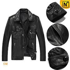 leather shirt collar jacket cw850105 cwmalls com