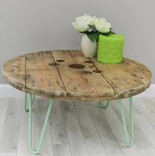 hairpin legs diy cable reel 12 pallet coffee table