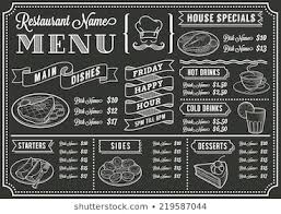 Chalkboard Menu Templates Chalkboard Menu Images Stock Photos Vectors Shutterstock