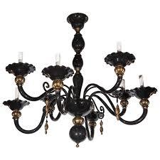 murano black and gold venetian chandelier for