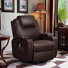 Amazoncom 360 Degree Swivel Massage Recliner Leather Sofa Chair