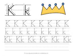 Letter Practicing Letter K Handwriting Practice