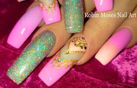 Robin Moses Nail Art: Lush Holographic Glitter Nail with Pastel ...