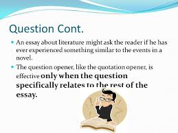 how to develop a hook for essay writing ppt video online  an essay about literature might ask the reader if he has ever experienced