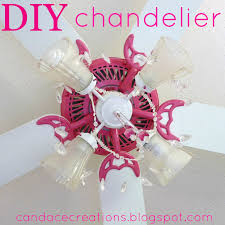 diy girls ceiling fan chandelier