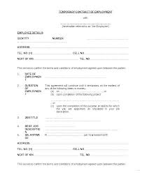Temporary Employment Contract Template Short Term Employment Contract Template