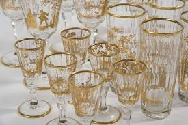 drinking glasses and goblets coloured glass 19th century the uk s