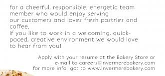 Career Opportunities Archives The Invermere Bakery