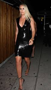 lindsey vonn 2016 lindsey vonn in tight leather dress 12