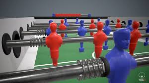 table football. table football pbr game ready 3d model low-poly max obj fbx mtl 4