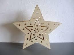 Fensterdeko Stern Hologramm Holz Led Beleuchtung 36 Cm