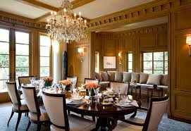 beautiful dining room furniture. Beautiful Dining Room With Elegant Chandelier And Formal Yet Homey Furniture Pieces S