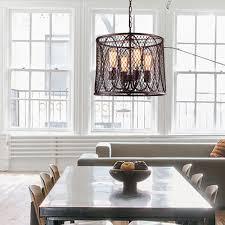 mirrea vintage metal mesh drum chandeliers pendant lights oil rubbed dark bronze 4 lights of medium