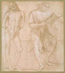 anatomy in the renaissance essay heilbrunn timeline of art   standing youth hands behind his back and a seated youth reading recto