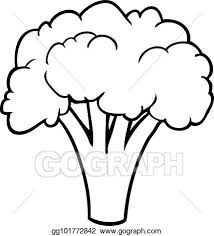 broccoli clipart black and white. Perfect And Line Drawing Of A Broccoli Inside Broccoli Clipart Black And White T